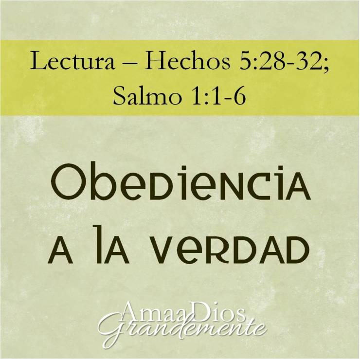 Obediencia a la verdad