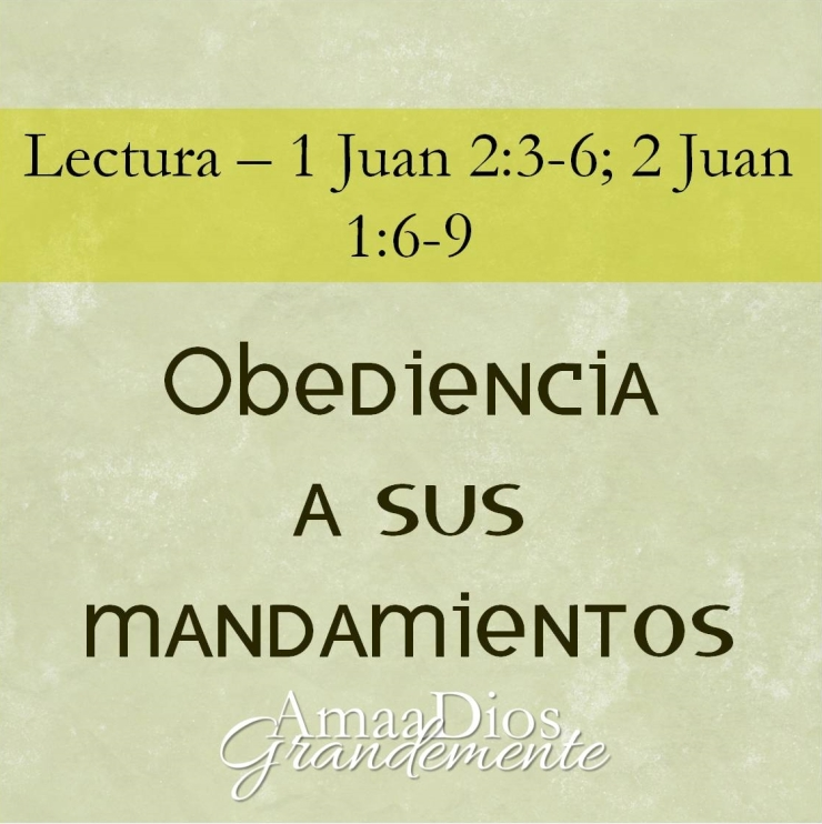 obediencia a sus mandamientos