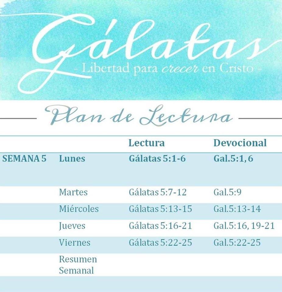 plan de lectura gálatas semana 5
