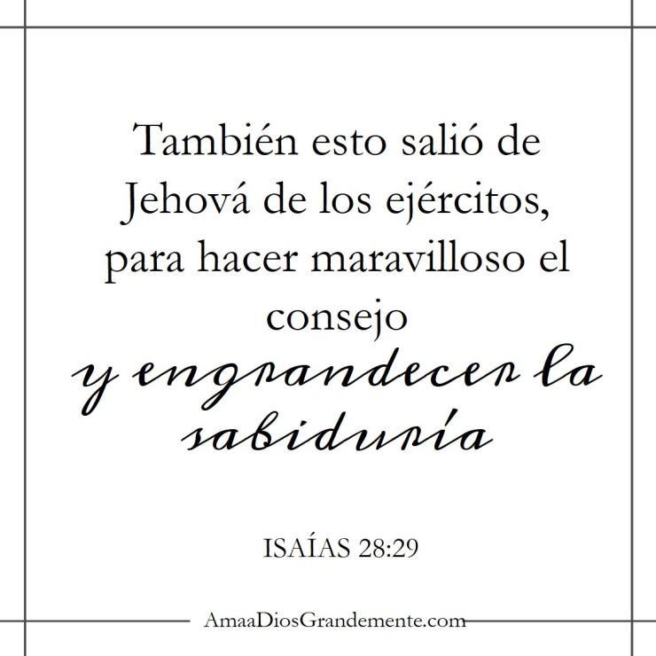 semana 4 - Isaías 28-29