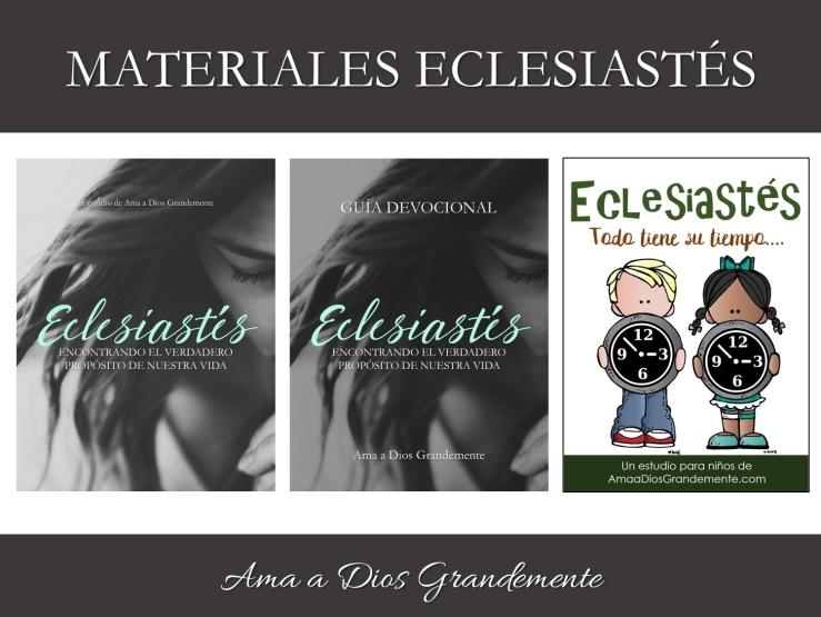 materiales eclesiastés