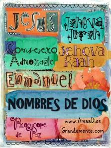 portada nombres de Dios niños